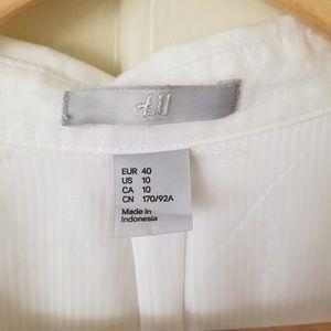 H&M Dresses - H&M bright white linen dress